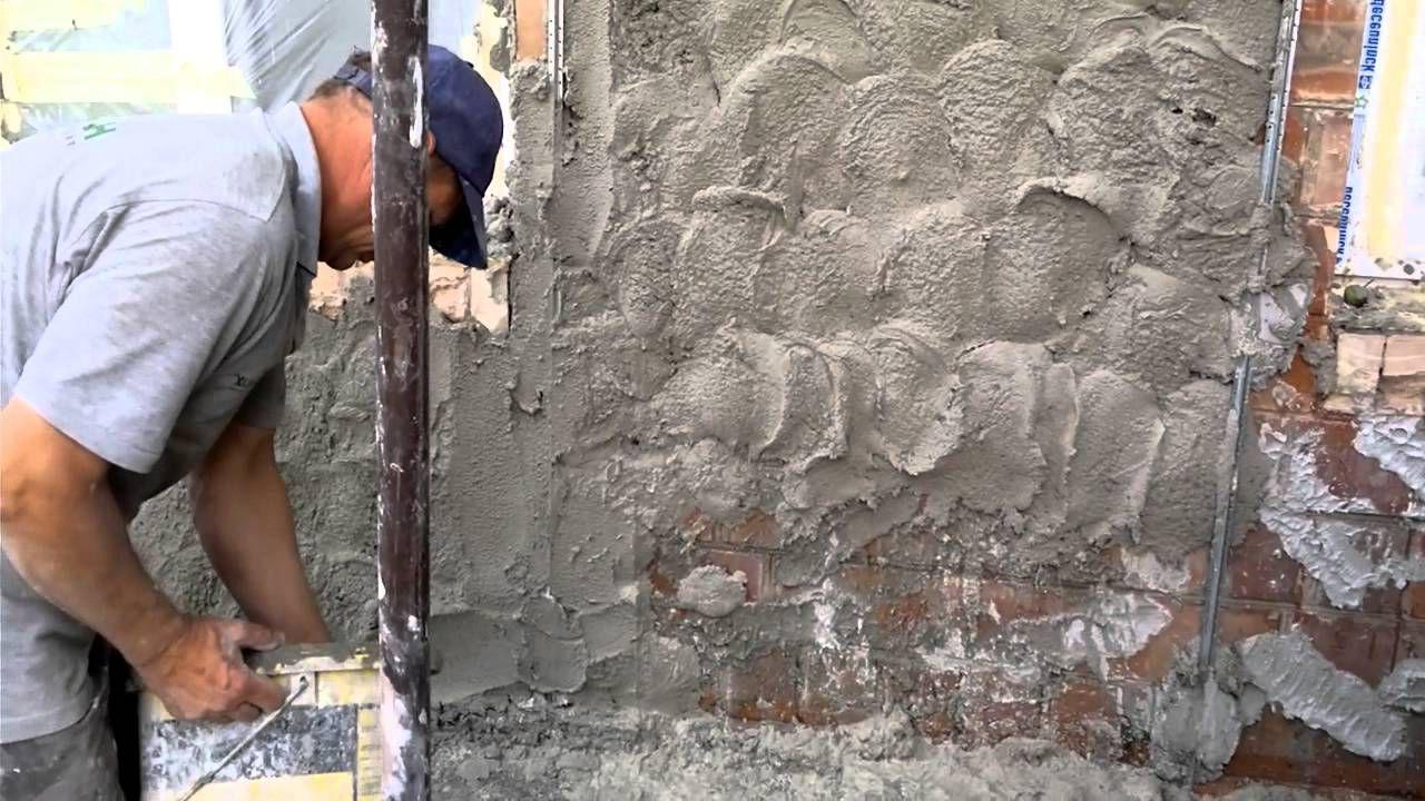 декоративная штукатурка фасада своими руками видео