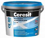 Затирка Ceresit CE 40 Aquastatic графит 5кг